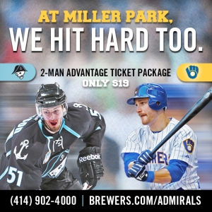 Brewers Admirals 2-Man Advantage