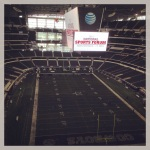Everything really IS bigger in Texas. AT&T Stadium, home of the Dallas Cowboys.