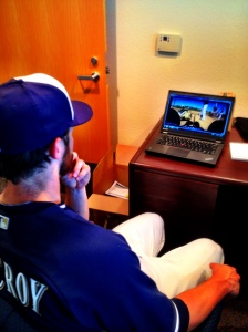 Lucroy and Lohse both enjoyed watching the footage.