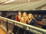 Here I am with my friends from the Oakland A's at Globe Life Park in Arlington (L-R: Jessica, Amy and Cait)