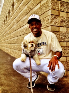 All of the players were given Hank t-shirts; he's Elian Herrera modeling his with Hank!