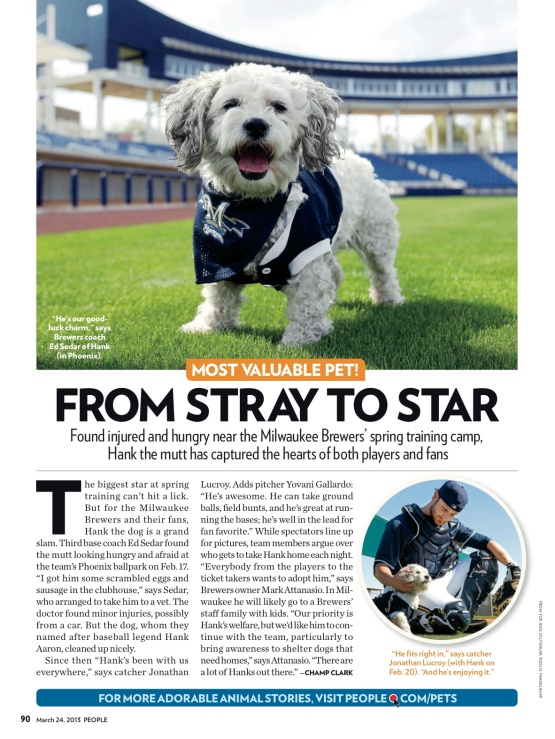 Hank BallparkPup People Magazine