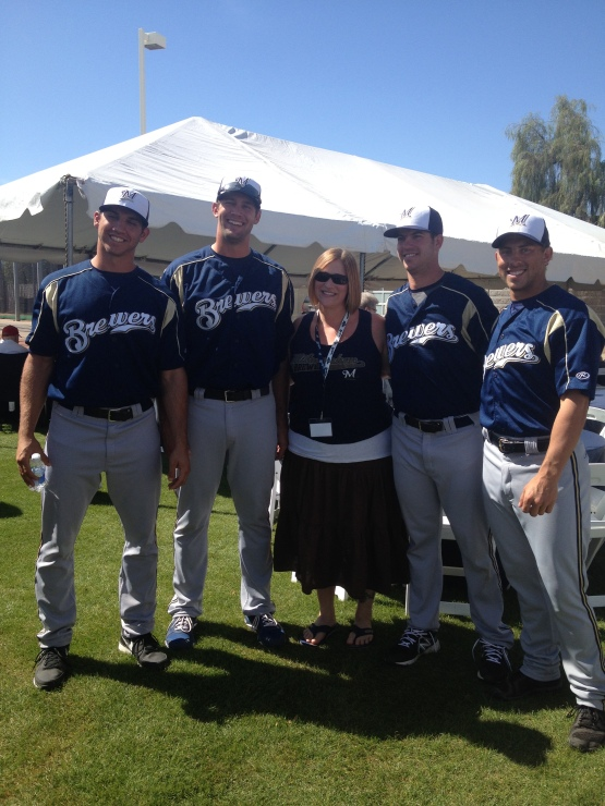 Alexa Hoffman, a first time attendee from Milwaukee, poses with the Minor League attendees at the event.
