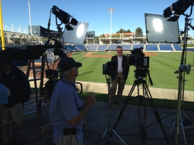 Bill Schroeder gears up for the 2014 Brewers Season Preview on FOX Sports Wisconsin
