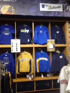 A sampling of the Authentics Collection gear at Miller Park.