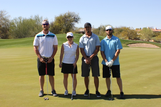 Our fearless foursome, L-R: Will Smith, me, Kyle Lohse & Tyler Thornburg.