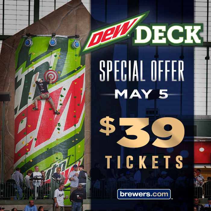 Special offer 39 tickets in the dew deck for 5 5 cait for Decking special offers