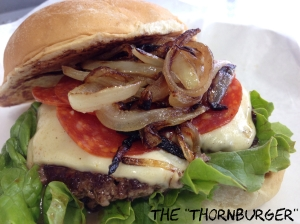 "Starting tonight for a limited time, AJ Bombers is offering The ""Thornburger,"" a special burger named after Brewers pitcher Tyler Thornburg"