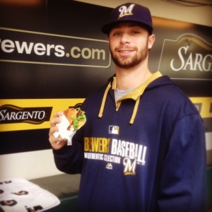 Brewers pitcher Tyler Thornburg now has a burger named after him--the Thornburger!
