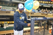 Khris Davis gets in on the #SpringMadness414 promotion