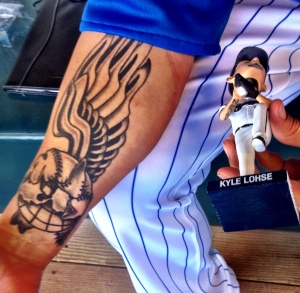 Kyle Lohse and Bobblehead Tattoo