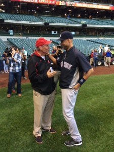 Coach Ryan chats with Derek Jeter