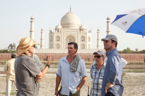Mark Ciardi and Jon Hamm at the Taj Mahal.