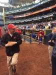 Coach Ryan plays a little catch.