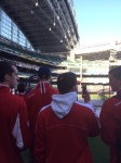 The team watches BP