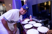 Carlos Gomez is known for getting his teammates with pies after games...