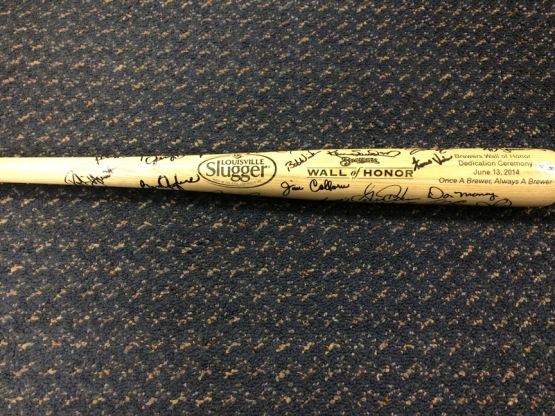 Wall of Honor autographed bat