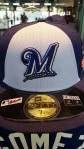 Here's the front of the Brewers All-Star Hat....There is also one with a red brim.