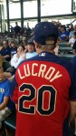 This young fan was sporting his jersey at today's game already!
