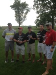 Wes Obermueller (far left)'s group took 1st place!
