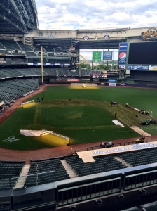 "As of Monday afternoon, the Grounds Crew is hard at work preparing the field for a different kind of ""pitch."""