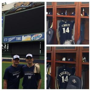 Wounded Warriors Brian Schultz (Wisconsin Dells) & Shane Kruchten (Oshkosh) join the #Brewers in DC this weekend.