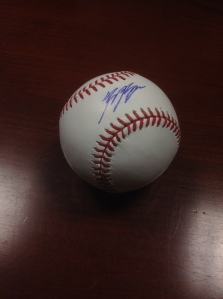 Fans checking in at the game on Sunday, August 10 have the chance to win this ball autographed by Ryan Braun.