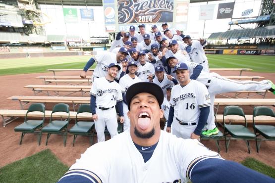 Brewers Team Selfie