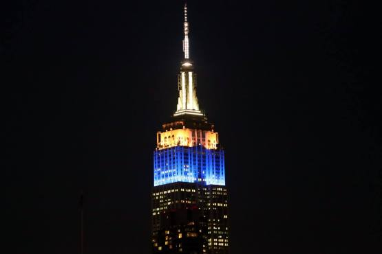 On Monday, April 6, the Empire State Building was lit in Brewers colors in honor of Opening Day.