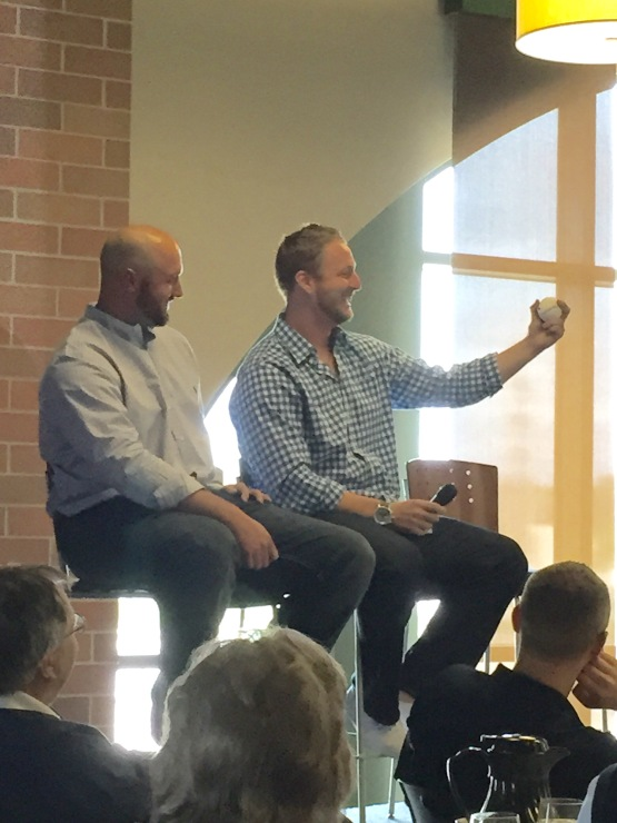 Jonathan Broxton and will Smith were the special guests at today's SSH Luncheon.