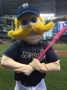 Bernie Brewer Pink Bat