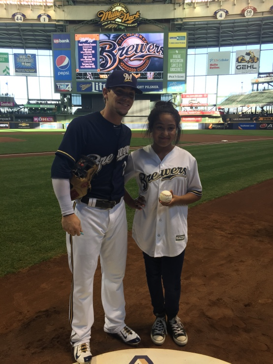 Scooter Gennett and Kayla Jimenez