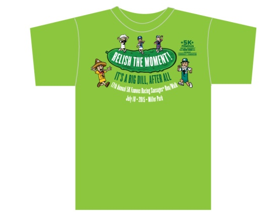 This year's collectible #Sausage5K T-Shirt.