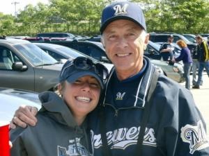 Here I am with my #BrewersAllStarDad before a Postseason game in 2011.