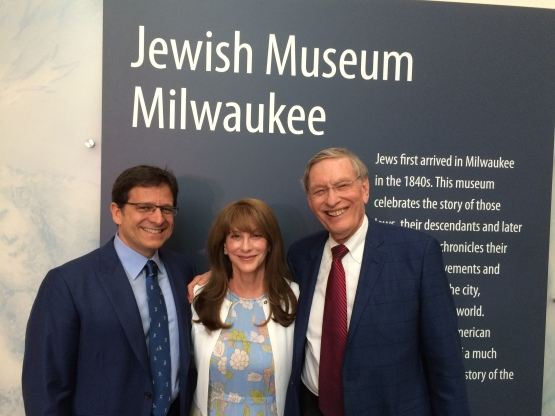 Commissioner Emeritus Selig poses with Mark and Debbie Attanasio at tonight's private preview event.