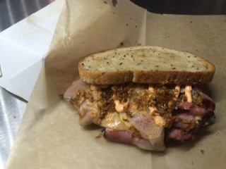 June 23-25 vs. Mets: Hot Pastrami Sandwich. Rye bread, hot pastrami, Swiss cheese, ballpark aioli and fried sauerkraut.