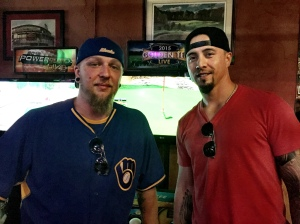 Eric Carlson won the #SecretBrewer contest and got to play Golden Tee with Kyle Lohse.