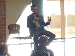 Craig Counsell addresses Brewers Season Seat Holders at today's luncheon.