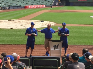Logan Schafer, Dan Wright and Khris Davis.