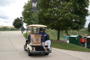 Players on Golf Carts