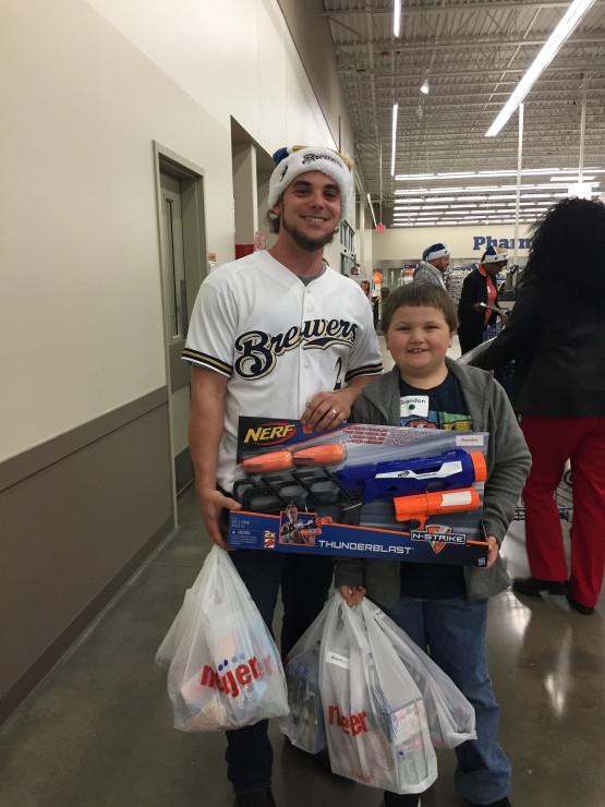 Scooter Gennett was in town for a special shopping event at Meijer tonight.