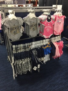 There is a large selection of infant and toddler gear at the sale again this year. Items start at $9.99.