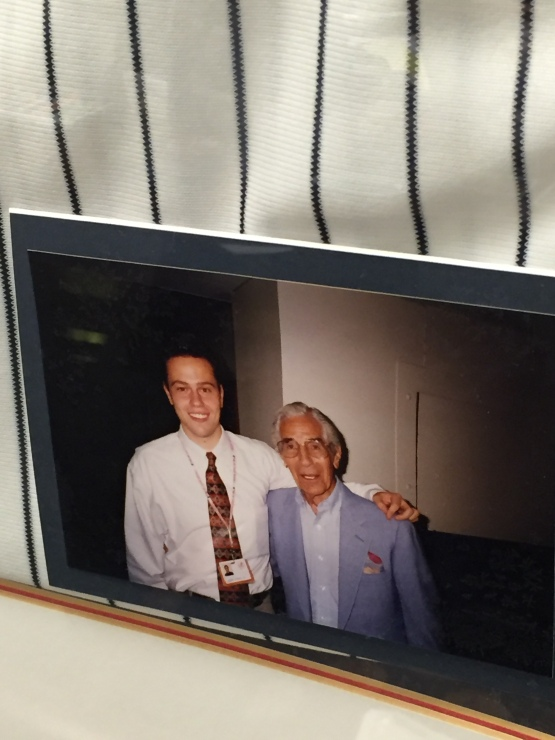 Holy cow! How time flies. Here's Mike with Phil Rizzuto, the man who took a chance on him back in 1995.