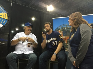 Tyler Thornburg & Gorman Thomas calls this fan's unsuspecting dad from Brewers On Deck.
