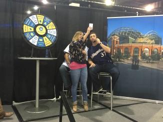Snapchat selfie at #BrewersPhone!