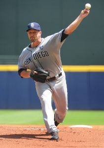 Jason Lane reinvented himself by becoming a pitcher and made it back to the Bigs in 2014 with the Padres. Photo: Getty Images