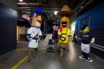 The Brewers Mascots were on hand to help load the truck! Photo: Scott Paulus/Milwaukee Brewers