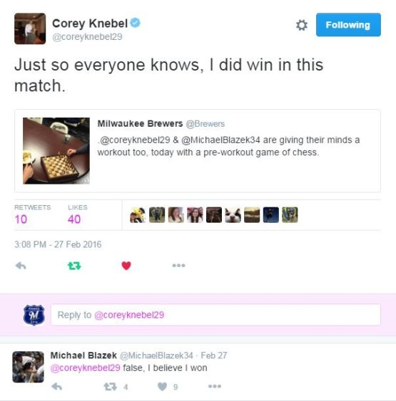Corey Knebel and Michael Blazek are just learning.... so maybe it's understandable why there was, uh, some confusion over this match?