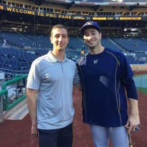 GM David Stearns and OF Ryan Braun were kind enough to pose for this photo, giving fans the side by side they've been craving.