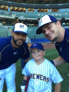 Luka met with his two favorite players, Jonathan Villar and Scooter Gennett.